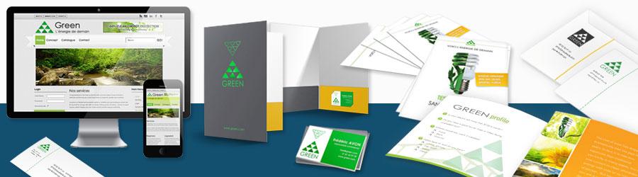 Pack communication imprimé et web